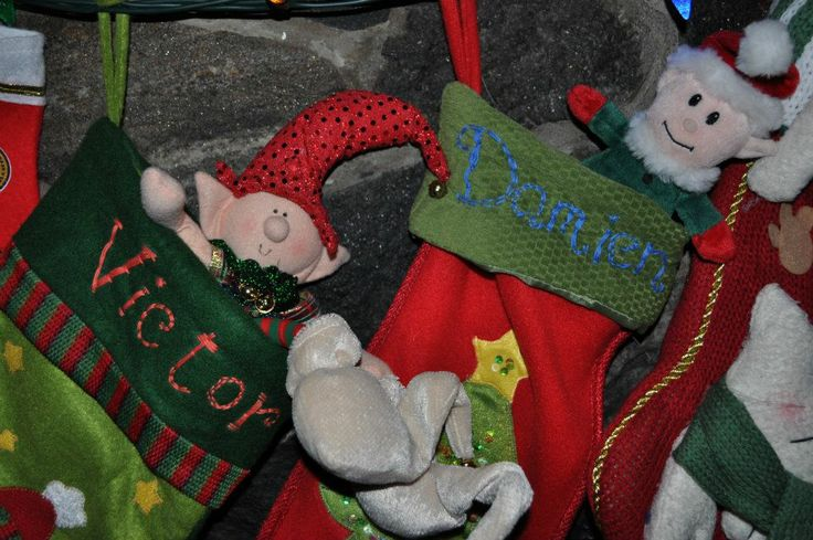 Where the elves sleep at night, in the boys stockings