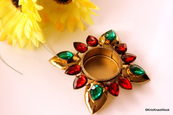 Metal Tea Light / votive holders Green and Red by KnicKnackNook, £7.50