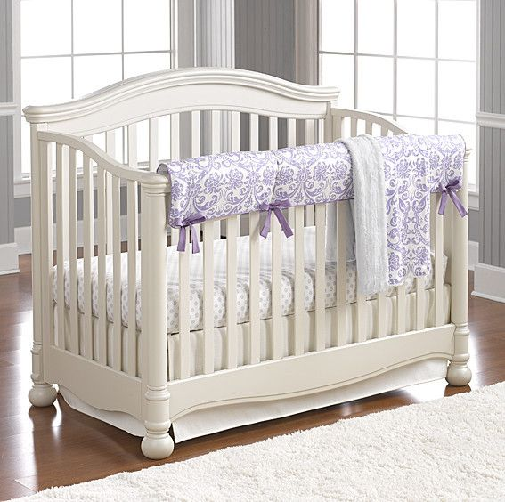 Lavender Baby Bedding | Baby Girl Bedding Sets | Liz and Roo Fine Baby Bedding. This Abigail lavender bedding set will add a pop of color to your baby girl's nursery. Add some fun accessories to complete the elegant look!
