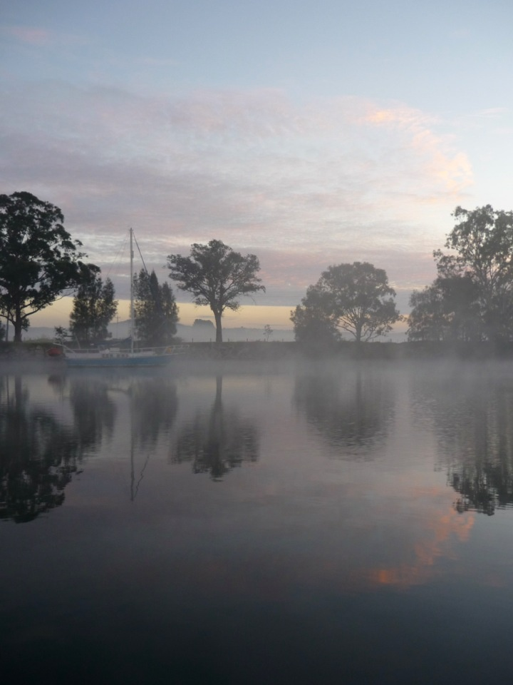 Moruya River on a cold and misty morning, NSW Australia.