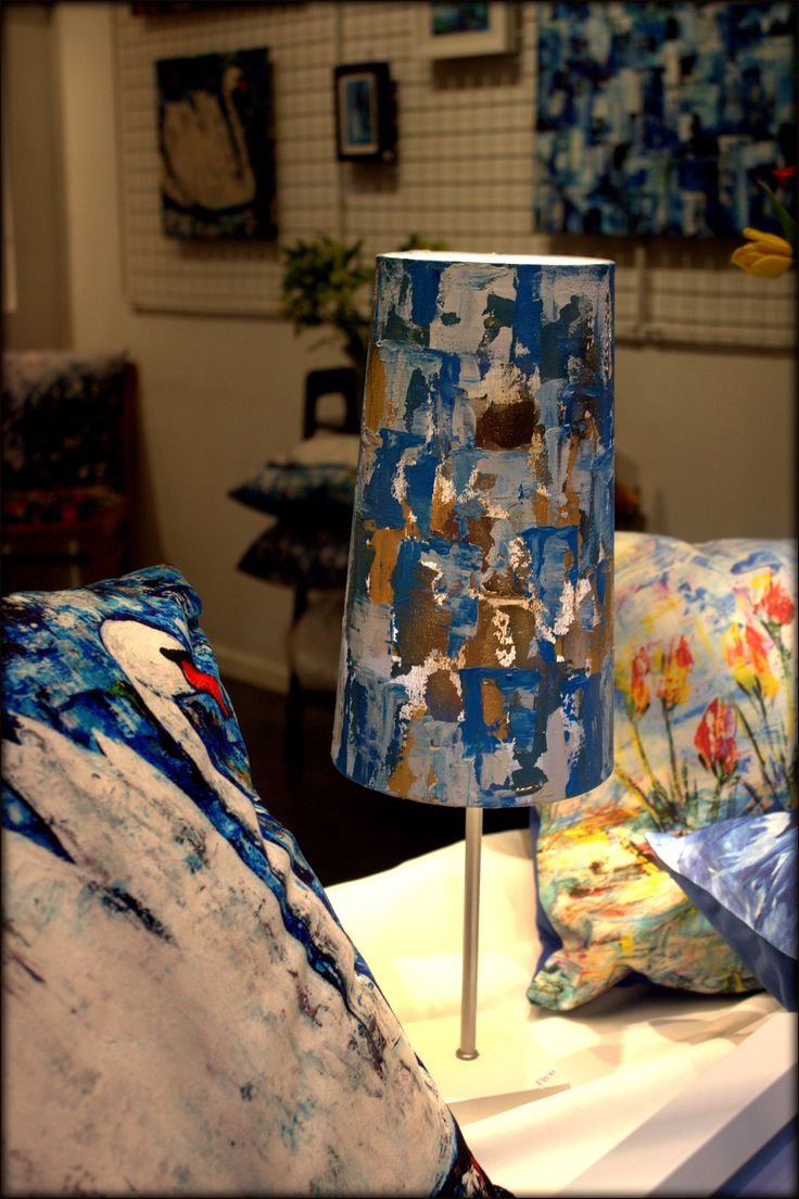 Cushions and lamp by Paula Rindborg.