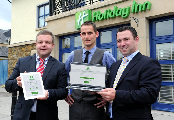 Pictured at the announcement of the new Free WiFi service for hotels are Scott McCann, Hospitality Manager MyPlace Connect; Misja Herfurt, General Manager Holiday Inn Killarney; Peadar Gormley CEO MyPlace Connect