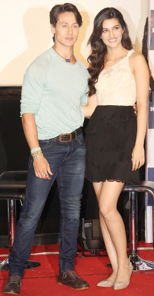 Tiger Shroff and Kriti Sanon at the trailer launch of 'Heropanti'. #Style #Bollywood #Fashion #Beauty