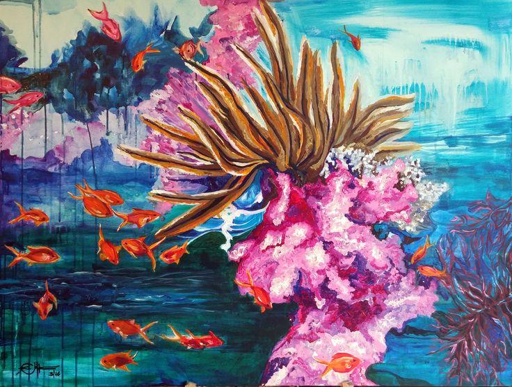 VENDIDA Pintura acrílica sobre lienzo. Obra original llamada