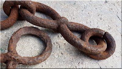 Antik vas lánc