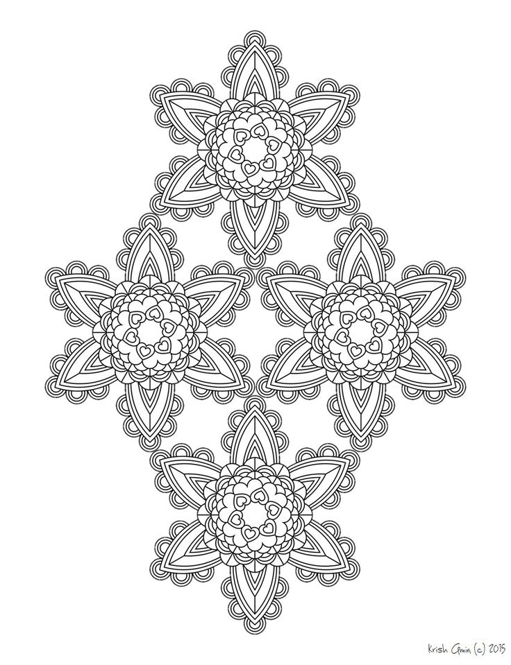 intricate mandala coloring pages free - photo#43