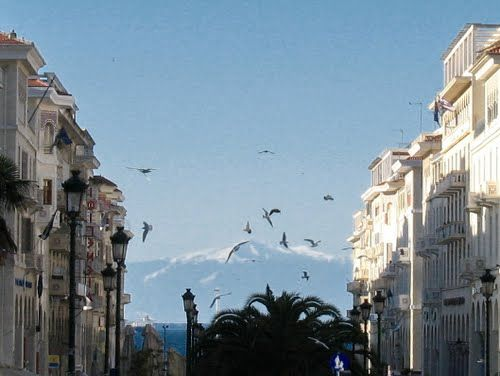 View of Mount Olympus from Thessaloniki