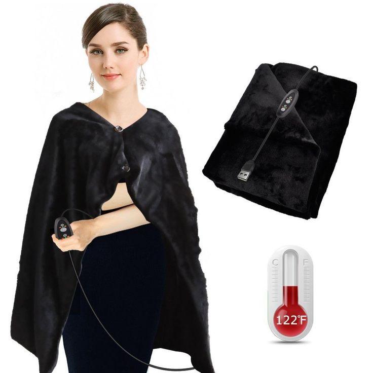 Heated Extra Soft  Electric Throw Blanket Super Warm Shawl Plush w/Time Control #BIAL