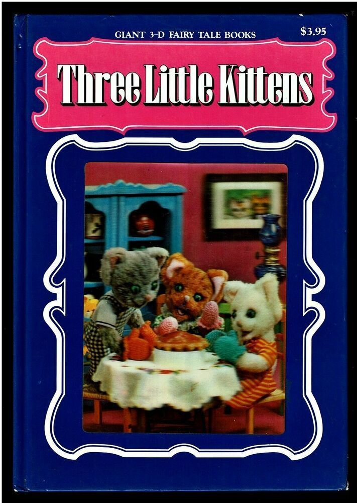 Three Little Kittens Vintage Children S Giant 3 D Fairy Tale Puppet Book Japan In 2020 Kittens Vintage Little Kittens Fairy Tale Books