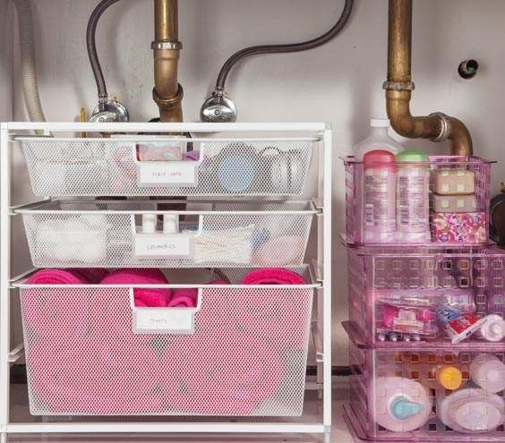 10 Amazing Ideas To Utilize The Space Under The Sink For Storage: 25+ Best Ideas About Small Bathroom Storage On Pinterest