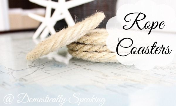 Easy nautical rope coasters - add a hit of spring/summer to your home