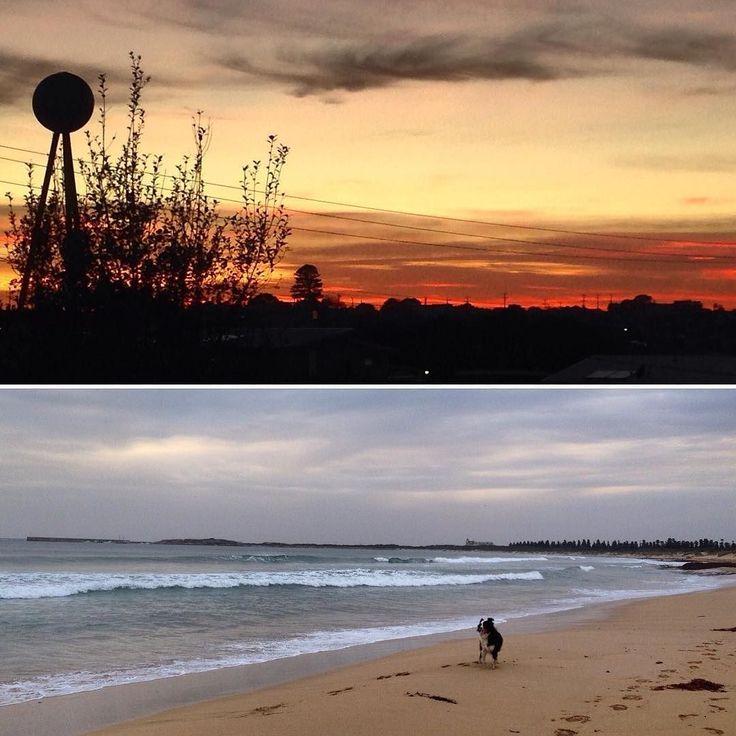 #Repost @kimwhite79  Bizarre autumn day. Sunrise at Barkly St and early evening at the Flume #ladybaybeach #warrnambool3280 #jessiedog #dogs3280 #destinationwarrnambool by destinationwarrnambool