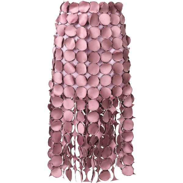 Loewe Dot Cut Out Skirt found on Polyvore featuring skirts, pink, loewe, high rise skirts, cut out skirt, pink skirt and polka dot skirt