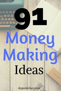 Need to make extra money? Check out this list of 91 ways to make money fast. You can make a lot of extra side income and side cash with these money making ideas!