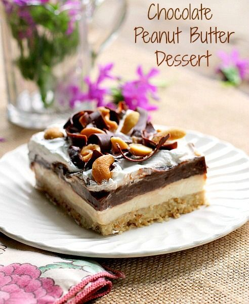Chocolate peanut butter dessert a chocolate peanut for Easy peanut butter dessert recipes
