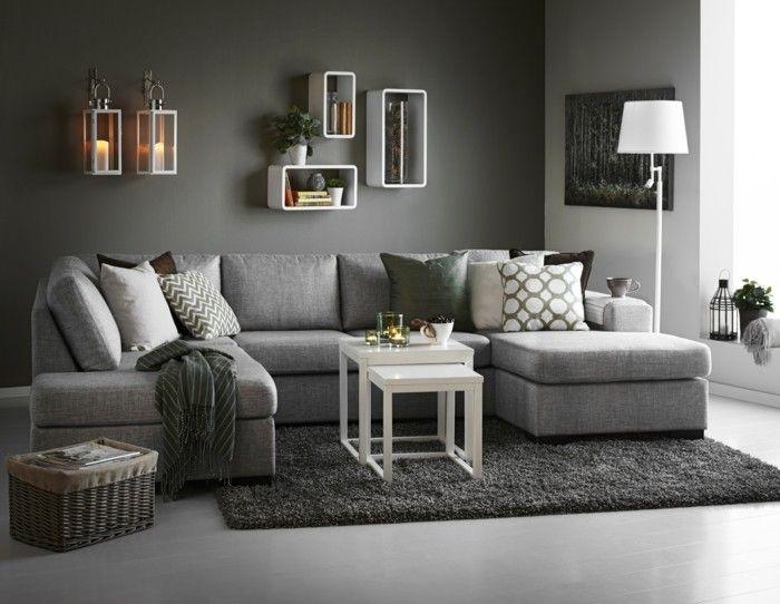 Wohnzimmer Grau – In 55 Beispielen erfahren, wie das geht