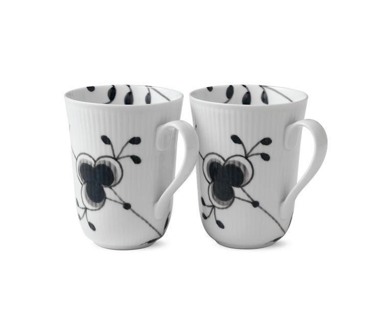 Black Fluted Mega Mug