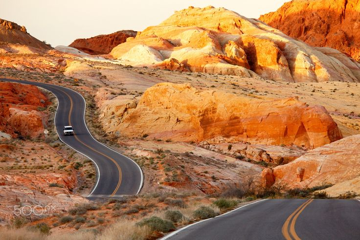 Sunset, Valley of Fire State Park, Nevada - Less than 90 minutes from Las Vegas; best at sunset, at the highest point in the park.