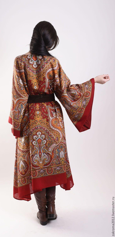 """Купить Платье """"Испанское"""" красное-прекрасное) - ярко-красный, платье, нарядное платье, платье из платка"""