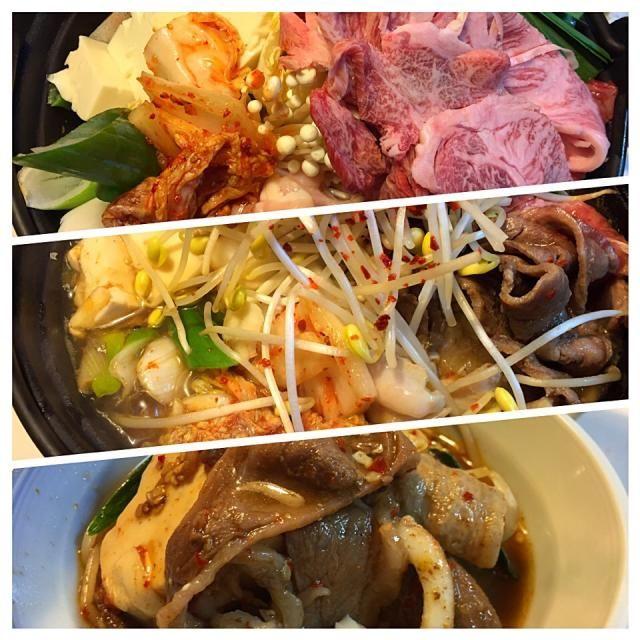 韓国料理風 - 75件のもぐもぐ - 今日は鉄板鍋(ちりとり鍋)風 by sasachanko