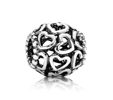 Pandora Silver Open Heart Charm . With an open heart, love will always find its way in (:
