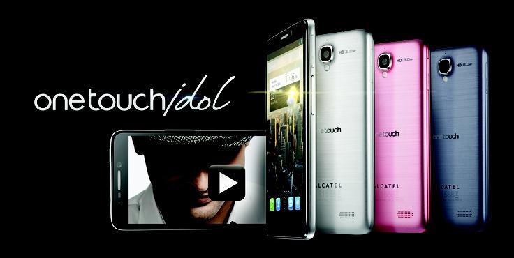 "ONE TOUCH IDOL: Símplemente irresistible! Smartphone extra delgado de 8 mm, diseño ultraligero de 110 gr sin bordes, S.O. Android 4.1, video HD, cámara de 8 MPX HD mas cámara frontal de 2 MPX HD, Procesador CPU doble núcleo de 1 GHz, Pantalla IPS de 4,7"" QHD."