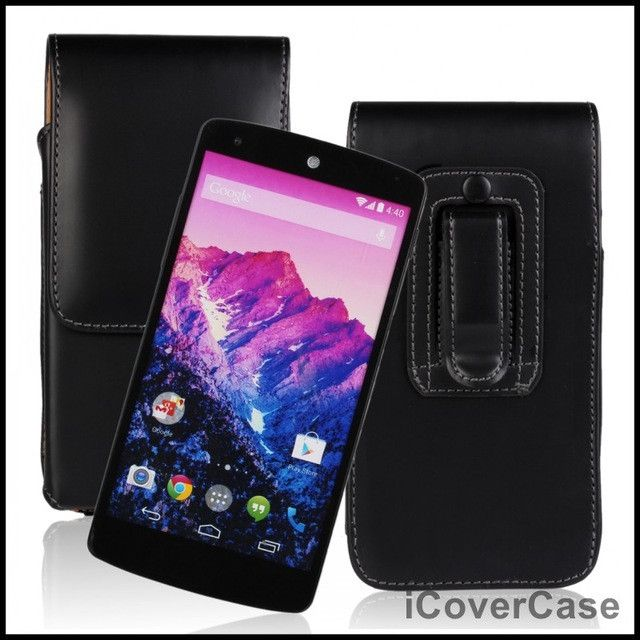 Nexus 5 Case Cover Flip Leather Pouch for Google LG Nexus 5 Capa Fundas Carcasas Hoesjes Belt Clip 5.0 inch Universal PU Bag
