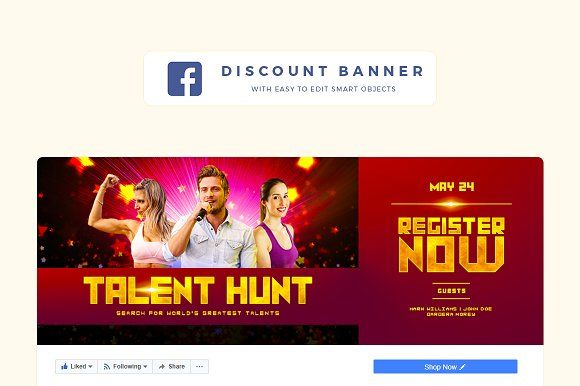 Facebook Promotional Banner by Pixtor on @creativemarket