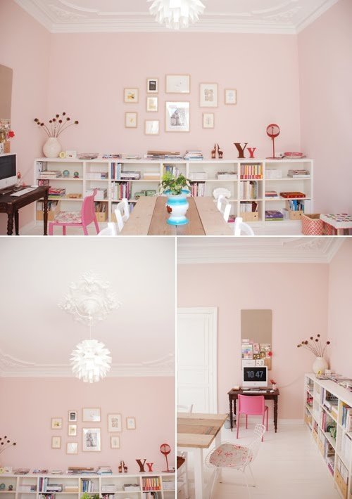Oh, so little girl but grown up! Modern Country Style: Case Study: Farrow and Ball Middleton Pink