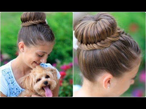 How to Create a Laced Fishtail Bun How to Video Tutorial | Cute Updos