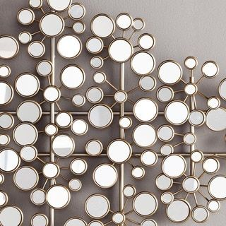 harper blvd olivia mirrored metal wall sculpture free shipping today overstockcom - Metal Wall Designs