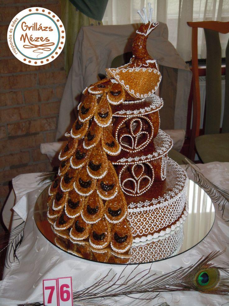 Páva, a királyi madár Zsűrizett, aranyérmes torta