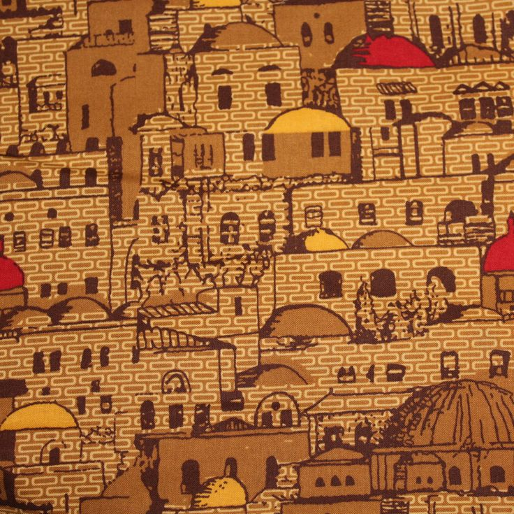 """Greek Isle Houses Fabric for Jo Ann Fabrics END OF BOLT 2 Yards 14"""" by 44"""" W 100% Cotton Quilt Apparel Craft Architectural Greece Buildings by JacobandChloesLLC on Etsy"""