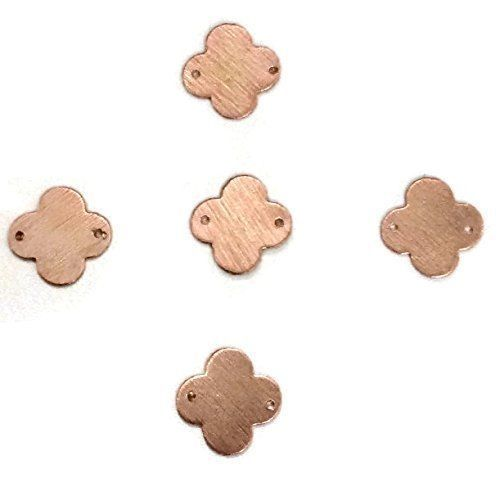 50 Pcs Clover Quaterfoil Charm Rose Gold Plated Golden Stamp Finish Charm 11mm #EMPRESSBEADS #Faceted