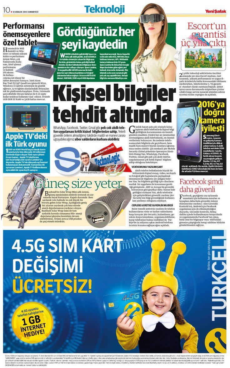 Bugünkü @YeniSafak #Teknoloji sayfamızın manşeti: Kişisel bilgiler tehdit altında http://www.yenisafak.com/ekonomi/kisisel-bilgiler-tehdit-altinda-2357348