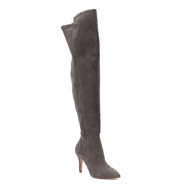 Style Charles by Charles David Vince Women's Over-The-Knee High Heel Boots, Size: medium (9), Med Grey