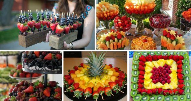 15+ Ideias Fantásticas para Servir fruta no Casamento