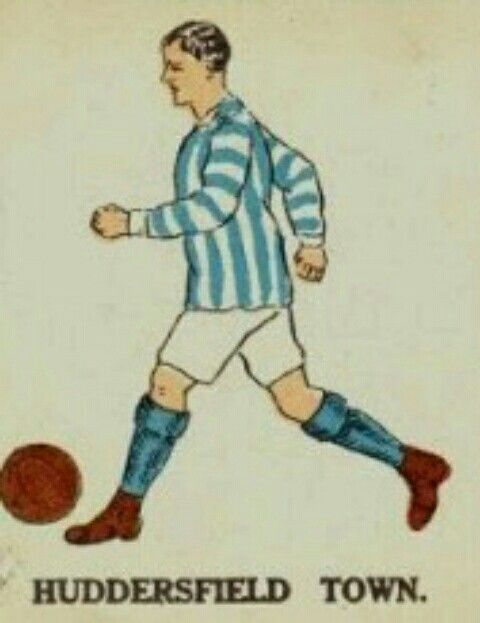 Huddersfield Town kits card in the 1920s.
