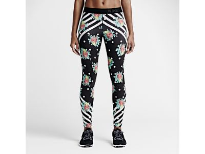 So fun to see this type of design coming out of a big brand. Nike Pro Midnight Floral Women's Training Tights