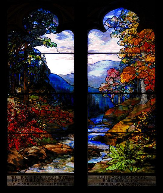 Louis Comfort Tiffany stained glass window                              …