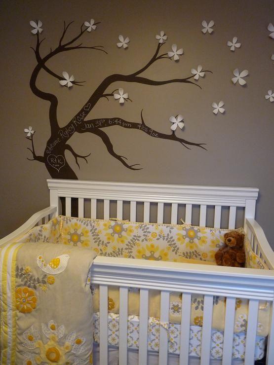 kimberlymurdoch: Kimberly Murdoch - Gender neutral nursery with hand painted chalkboard tree. Refinished ...
