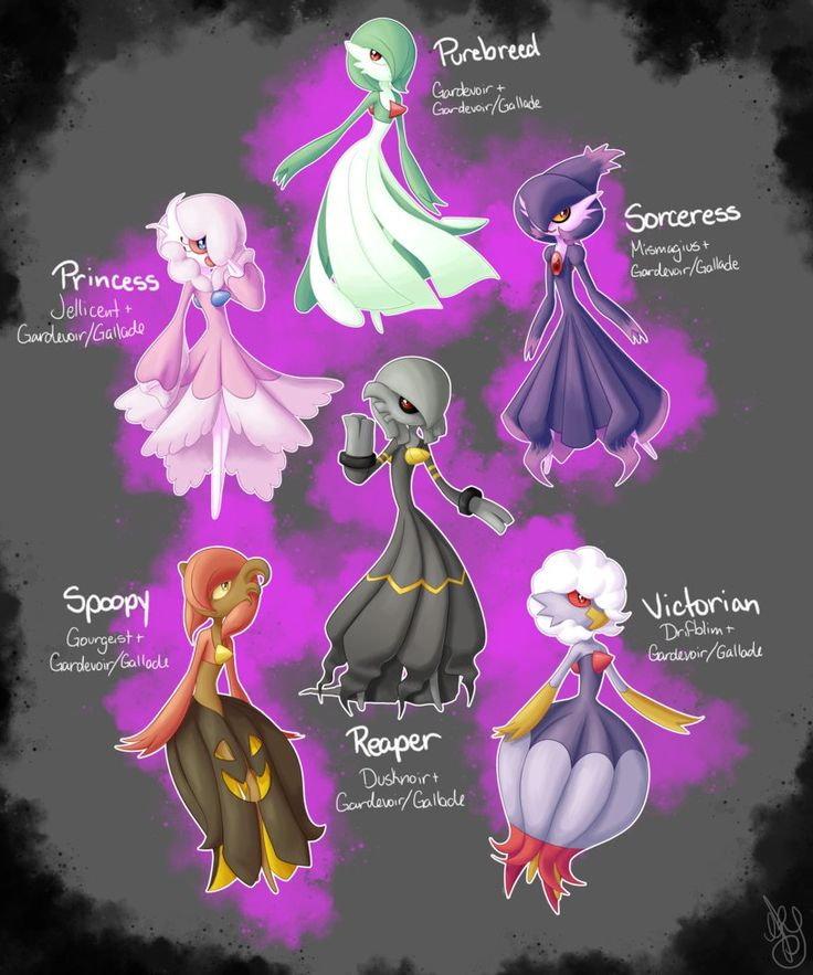Breeding variations for my favorite pokemon ovo all the pokemon are from the egg group amorphous