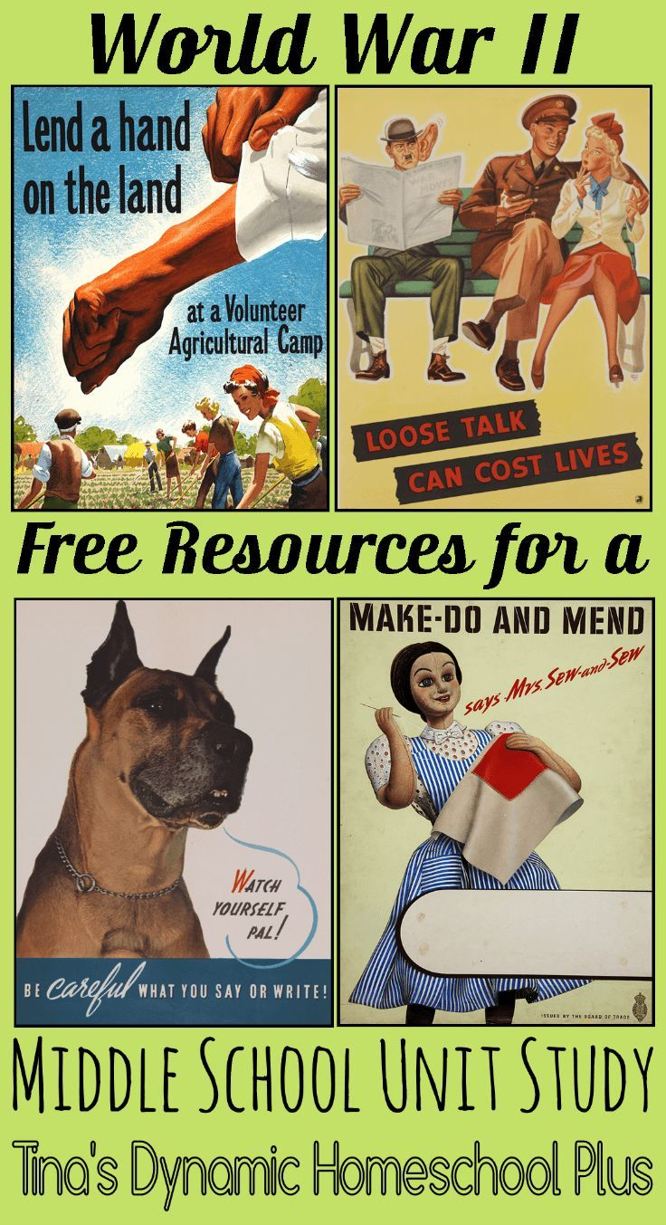 World War II Free Resources for a Middle School Unit Study   Tina's Dynamic Homeschool Plus