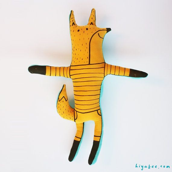 Yellow fox soft toy