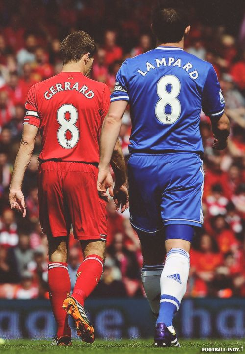 Frank Lampard 8 Steven Gerard 2 Legends of Futbol right next to each other.