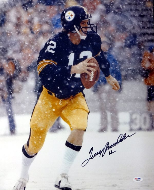 Terry Bradshaw Autographed 16x20 Photo Pittsburgh Steelers PSA/DNA Stock #83625