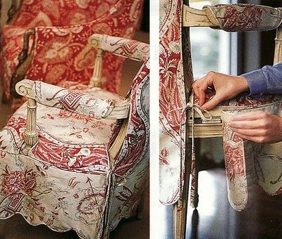 Project Runway For Chairs ~ Best Tutorial Iu0027ve Ever Seen On A Custom  Slipcovers · Upholstered Dining Room ...