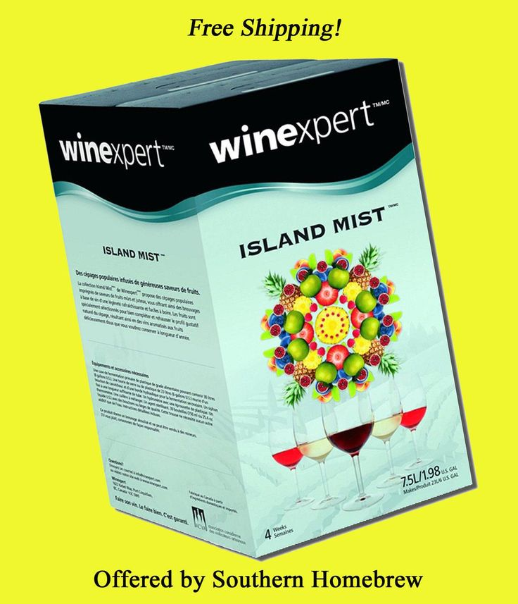 cool Winexpert Island Mist Unique Fruits White Zinfandel Wine Making Package