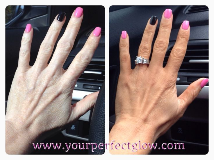 Another Express tan before & after. I rinsed off in 2.15