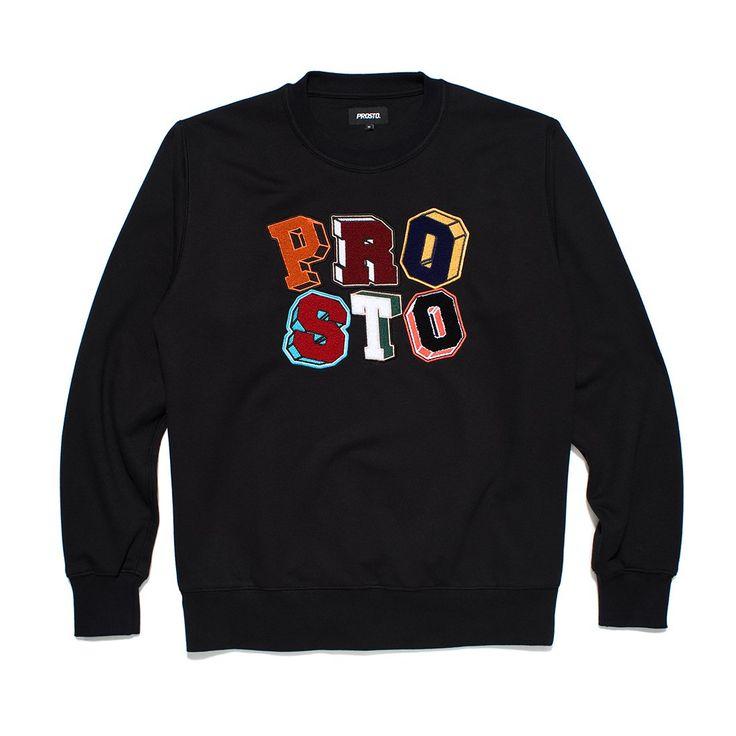 Bluza bez kaptura PLAY BLACK Męska bluza zadrukowana autorskim wzorem kamuflażu, na piersi szenilowe litery Prosto.
